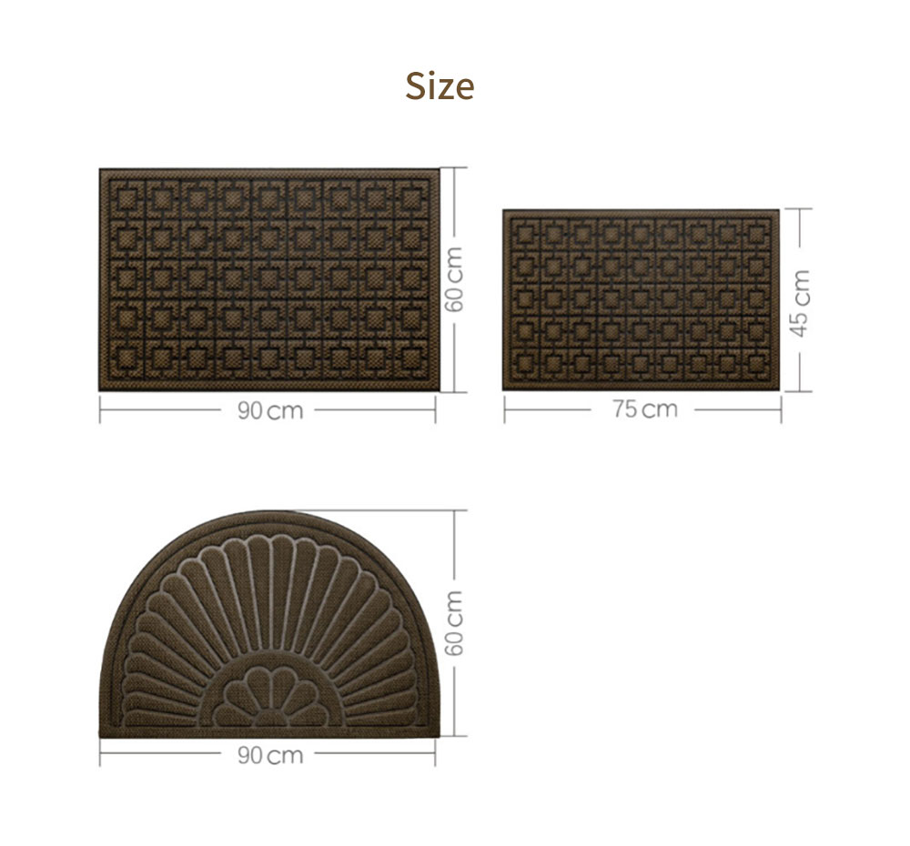 Xiaomi 8H Pineapple & Square Version Special Dust Floor Mat Coffee and Gray Carpet