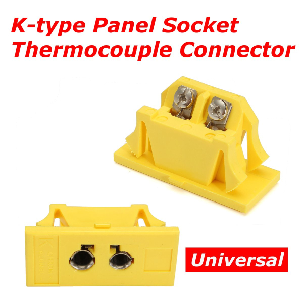 Universal K-type Panel Jack Socket Panel Socket F Miniature Standard Thermocouple Connector