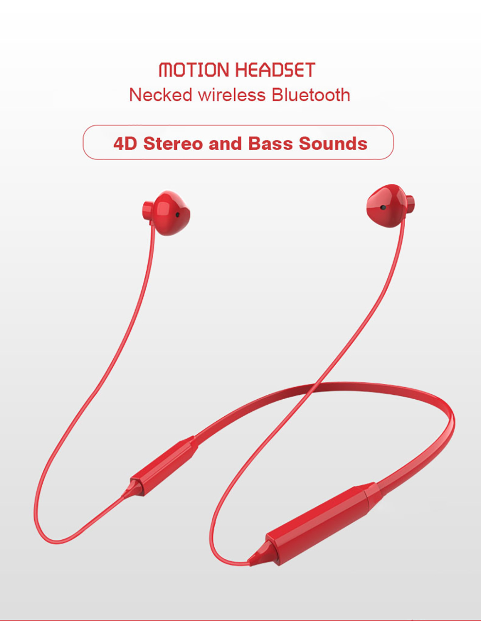 Q13S Magnetic Wireless bluetooth Earphone 4D Stereo Sound Neckband Headset Headphones With Mic