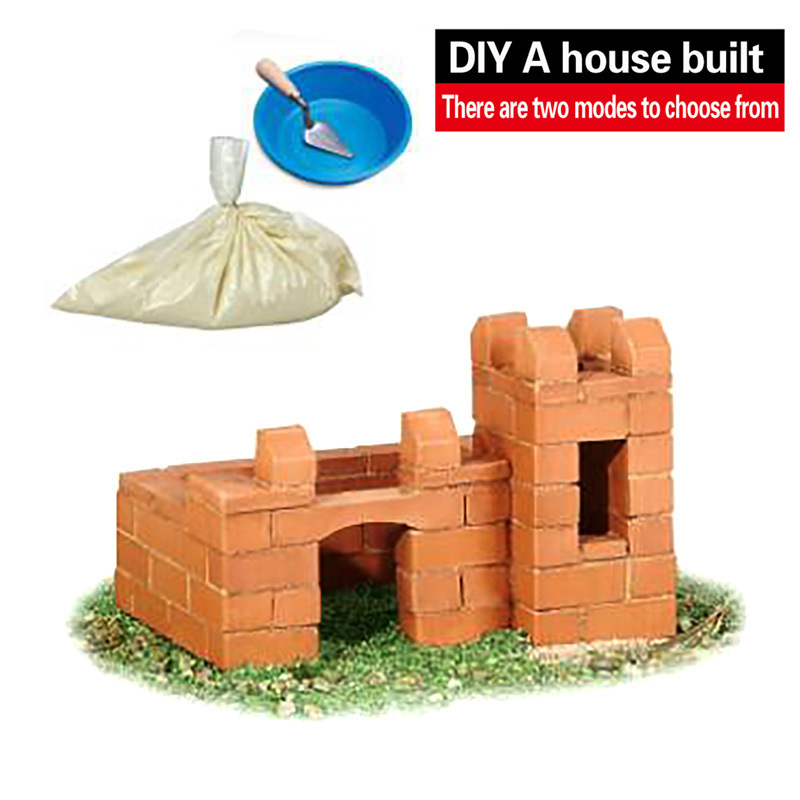 Wisdom Built DIY Model Building Lifelike Bricks Construction Building A House Beach Toy