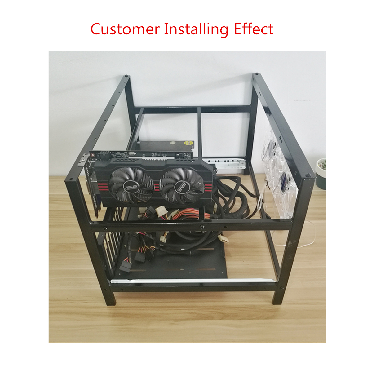 Big Coin Open Air Mining Miner Steal Frame Rig Case up to 6 GPU ETH BTC Ethereum
