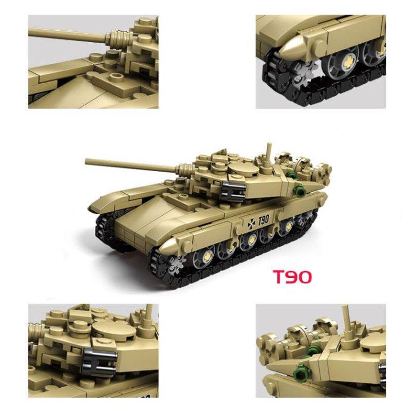 Kazi Tank Team Building Block Sets Toys Educational Gift Fidget Toys #8404 1184 Push Pcs