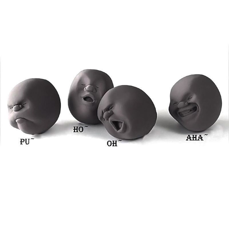 Novelty Anti Stress Ball Toy Human Face Emotion Vent Ball Relax Doll Wreak Reduce Stress For Gift