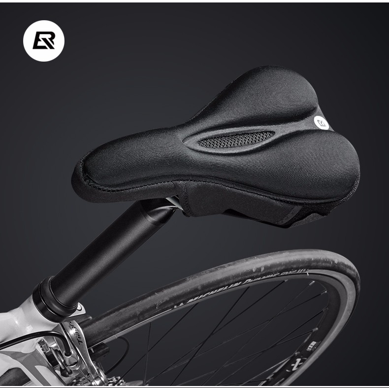 ROCKBROS Lycra Sponge Cycling Sport Bike saddle Soft Pillow Seat Breathing Non Slip Hollow Saddle