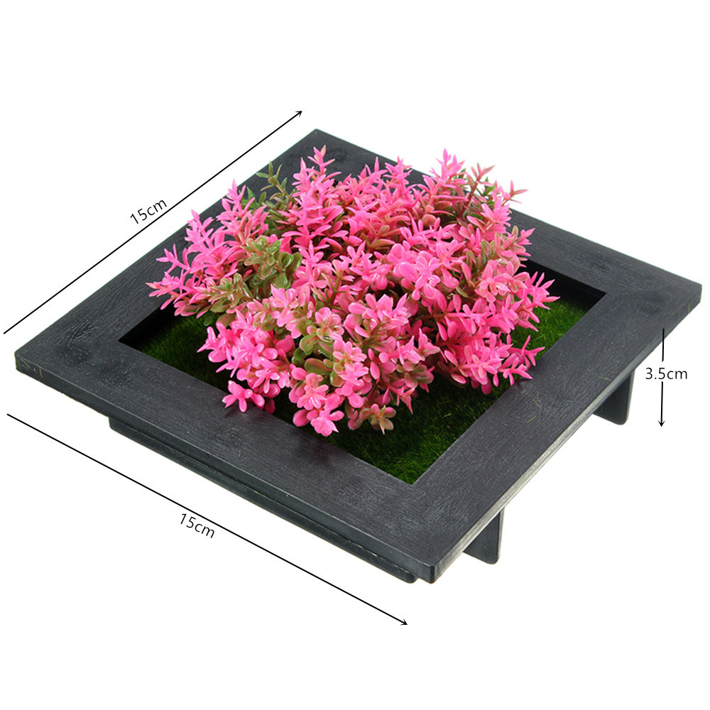 SquarE-mounted Vertical Wall Hanging Artificial Flower Home Office Decoration
