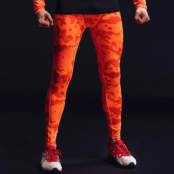 Camouflage Compression Pants Mens Fitness Jogging Skins Tights Gym Long Leggings Quick Dry Pants