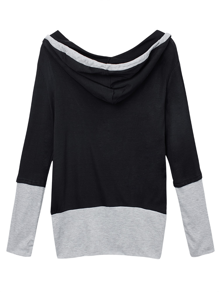 Women Autumn Two Piece Long Sleeve Hooded Women T-Shirt Sweatshirt