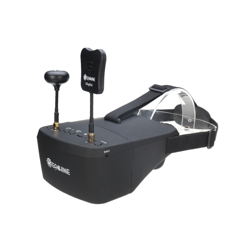 EachineEV800D5.8G40СНРазнообразиеFPV Защитные очки 5 дюймов 800 * 480 Гарнитура Видео HD Видеорегистратор Построено в Батарея