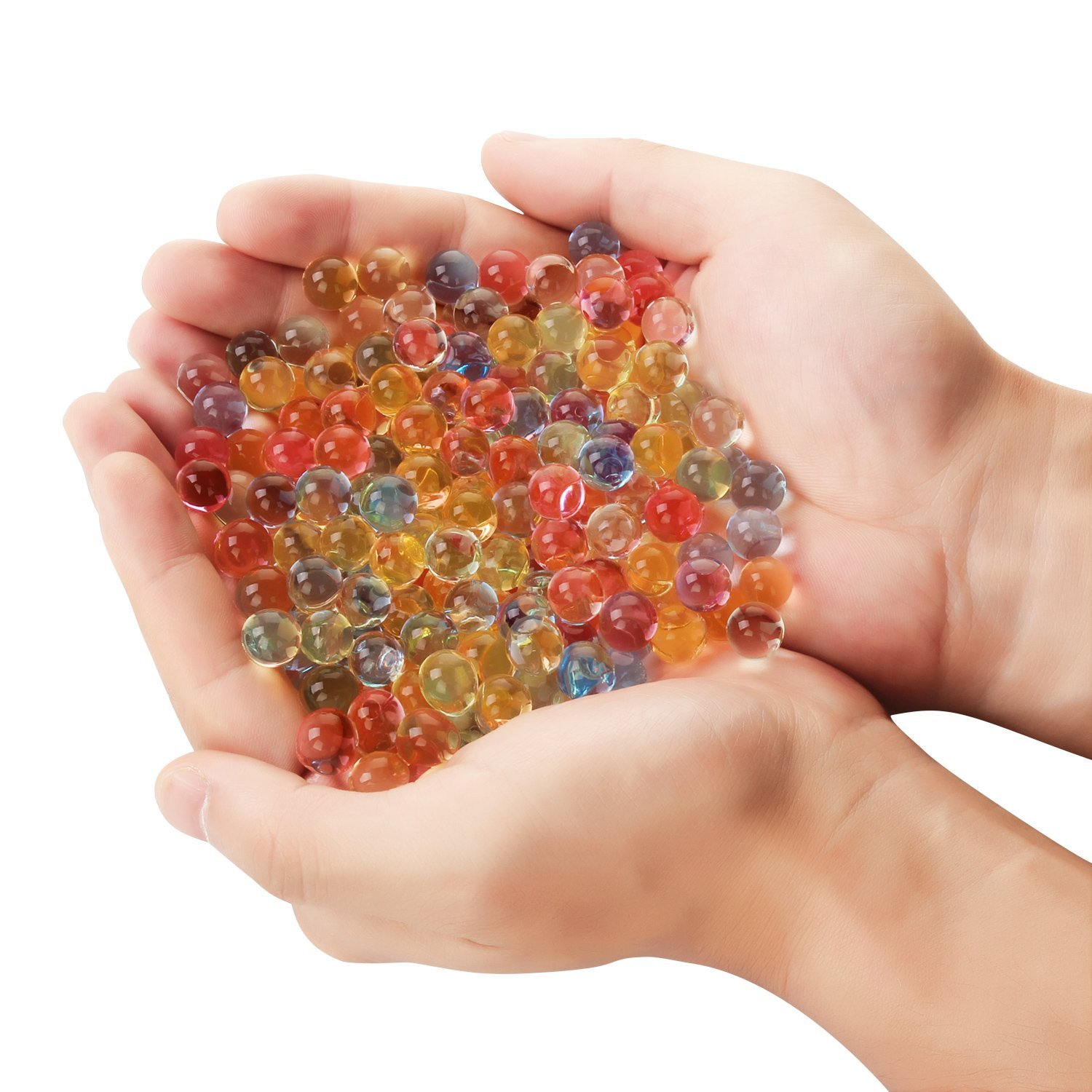 8000PCS/Box Pearl Shaped Crystal Soil Water Loose Beads Mud Grow Magic Jelly Balls Home Decor