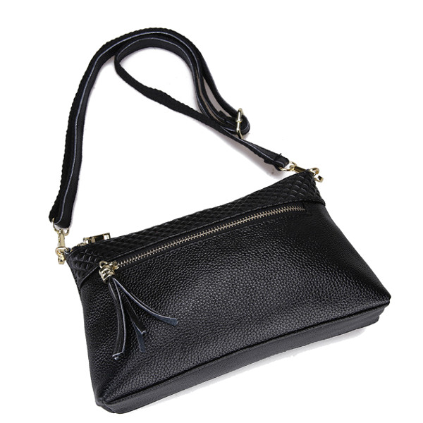 Women Lichee Pattern Tassel Shoulder Bags Ladies Elegant Clutches Bags Crossbody Bags