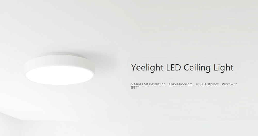 Xiaomi Yeelight YLXD01YL 28W Round LED Ceiling Light Smart APP bluetooth WiFi Control IP60 Dustproof