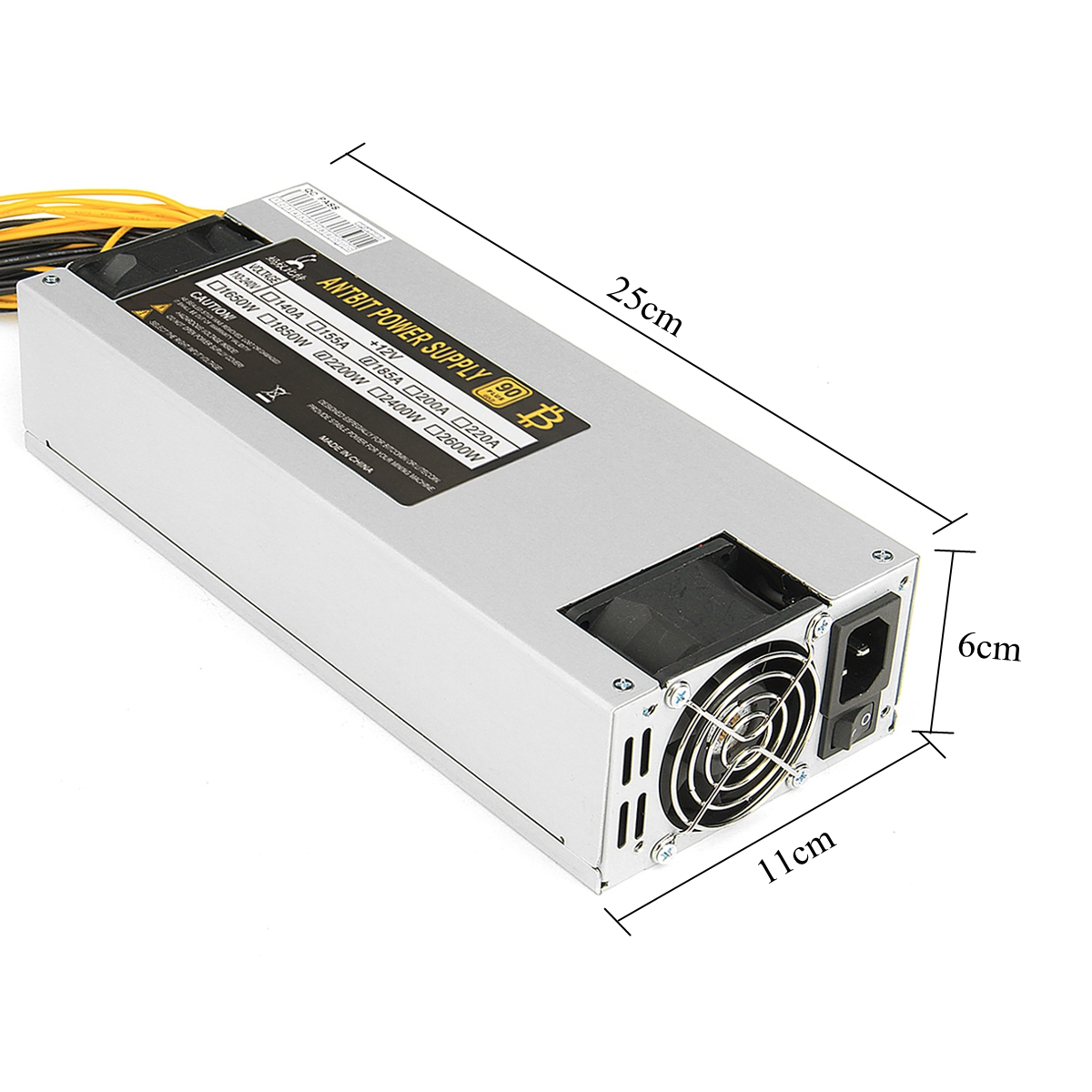 1600W~2200W Mining Power Supply Miner Mining For ETH Rig Ethereum Miner S9 S7 L3+ Plus