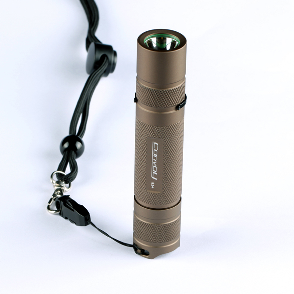 Convoy S2+ Sand Xp-l Hi 7135x8 3/5modes EDC LED Flashlight 18650
