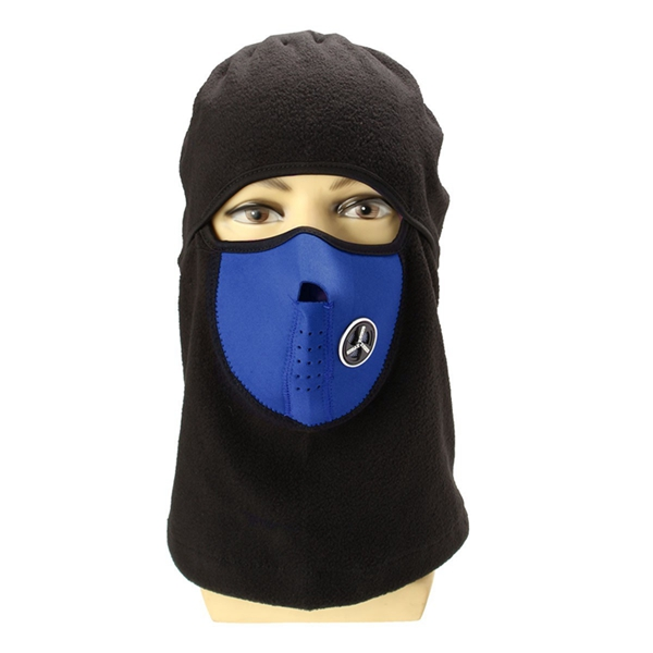 Unisex Fleece Neck Warmer Scarves Snood Face Mask Ski Hat Cap