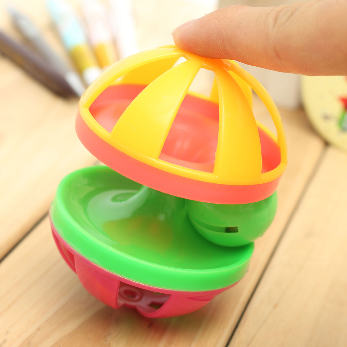 Pet Cat Dog Play Toy Sound Bell Training Play Toy