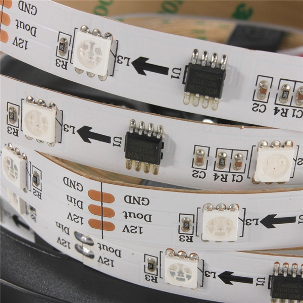 5M 36W DC12V WS2811 150 SMD 5050 RGB Changeable Flexible LED Strip Light for Indoor Home Decor