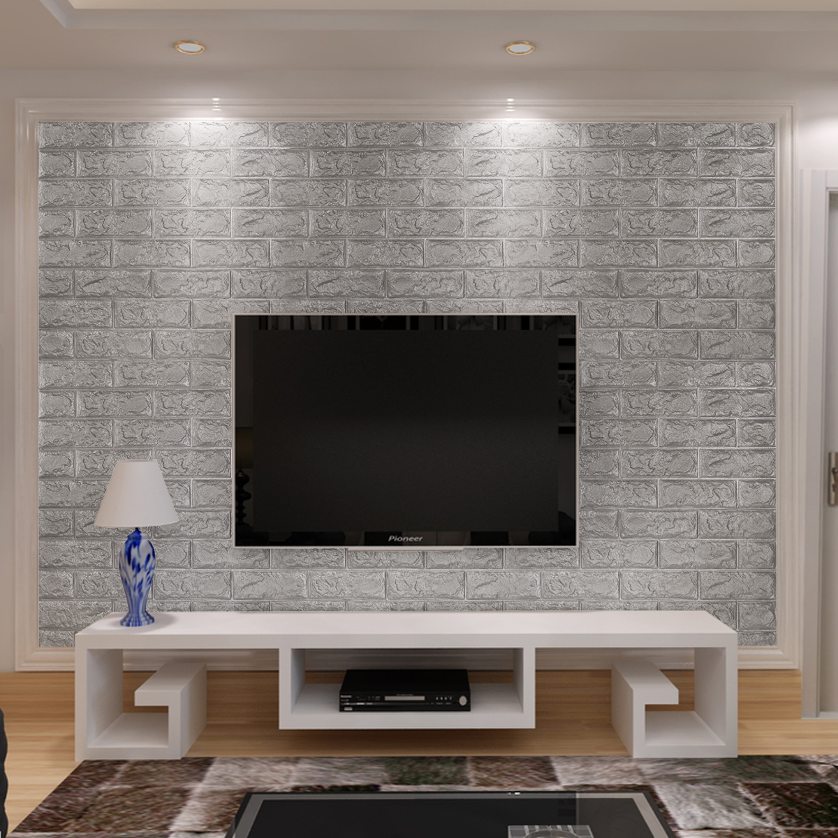 3D Brick Pattern Wallpaper Bedroom Living Room Modern Wall Sticker TV Background Decor