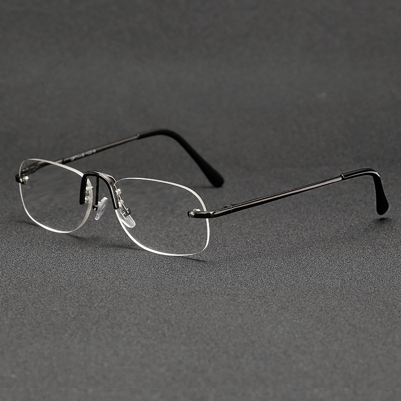 Men Women Business Round Rimless Readers Reading Glasses