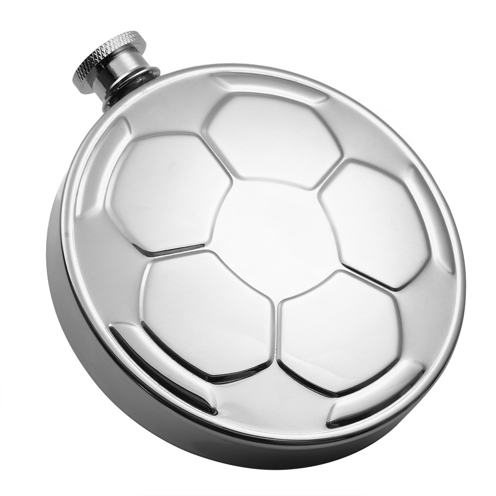 IPRee 4.5oz Football Style Hip Flask Stainless Steel Flagon Wine Whiskey Bottles Pot With Funnel