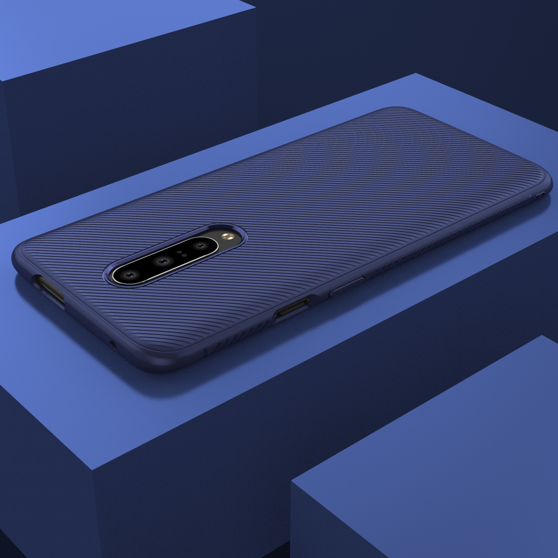 Bakeey Soft Silicone Texture Carbon Fiber Slim Shockproof Protective Case For OnePlus 7 Pro