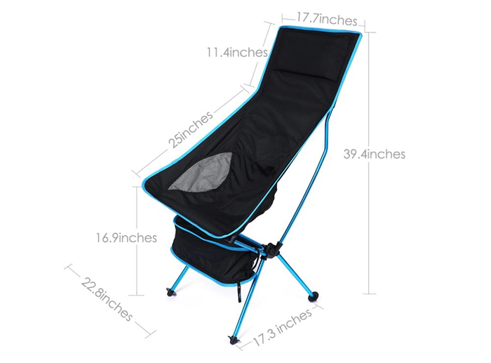 Outdooors Portable Light Weight Folding Fishing Chair Camping Stool Chair With Comfortable Pouch
