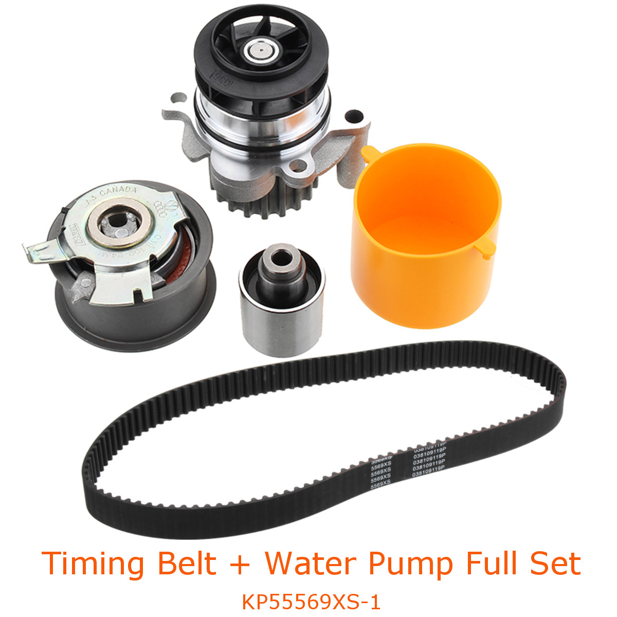 Timing Belt Kit Water Pump Set KP55569XS-1 For Audi A3 A4 VW TDI Golf For Skoda For Ford