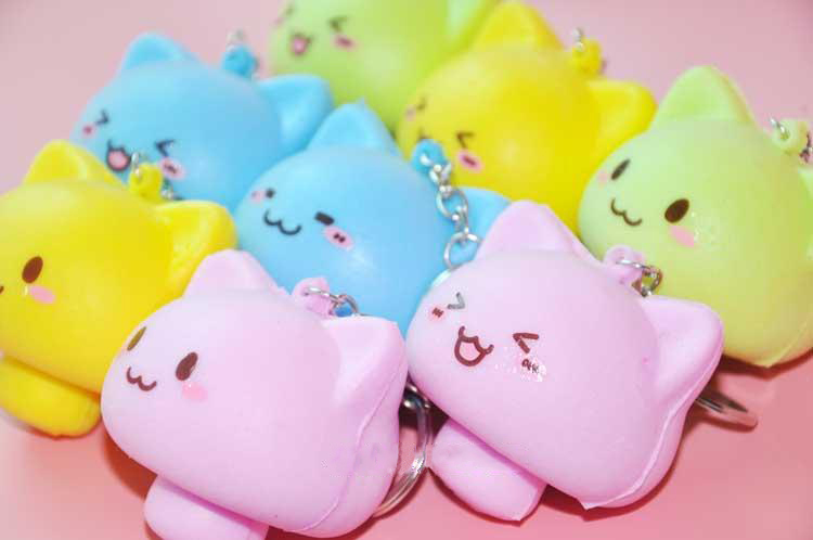 10PCS Simulation Bread Mushroom Cute Face Keychain Squishy Crafts Creative Decoration