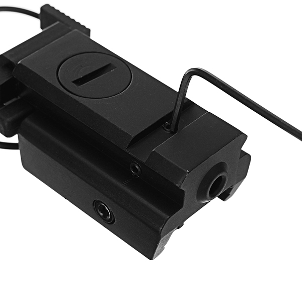 Low Profile Red Laser Sight Beam Dot Sight Tactical Picatinny 20mm Rail Mount with Remote Switch