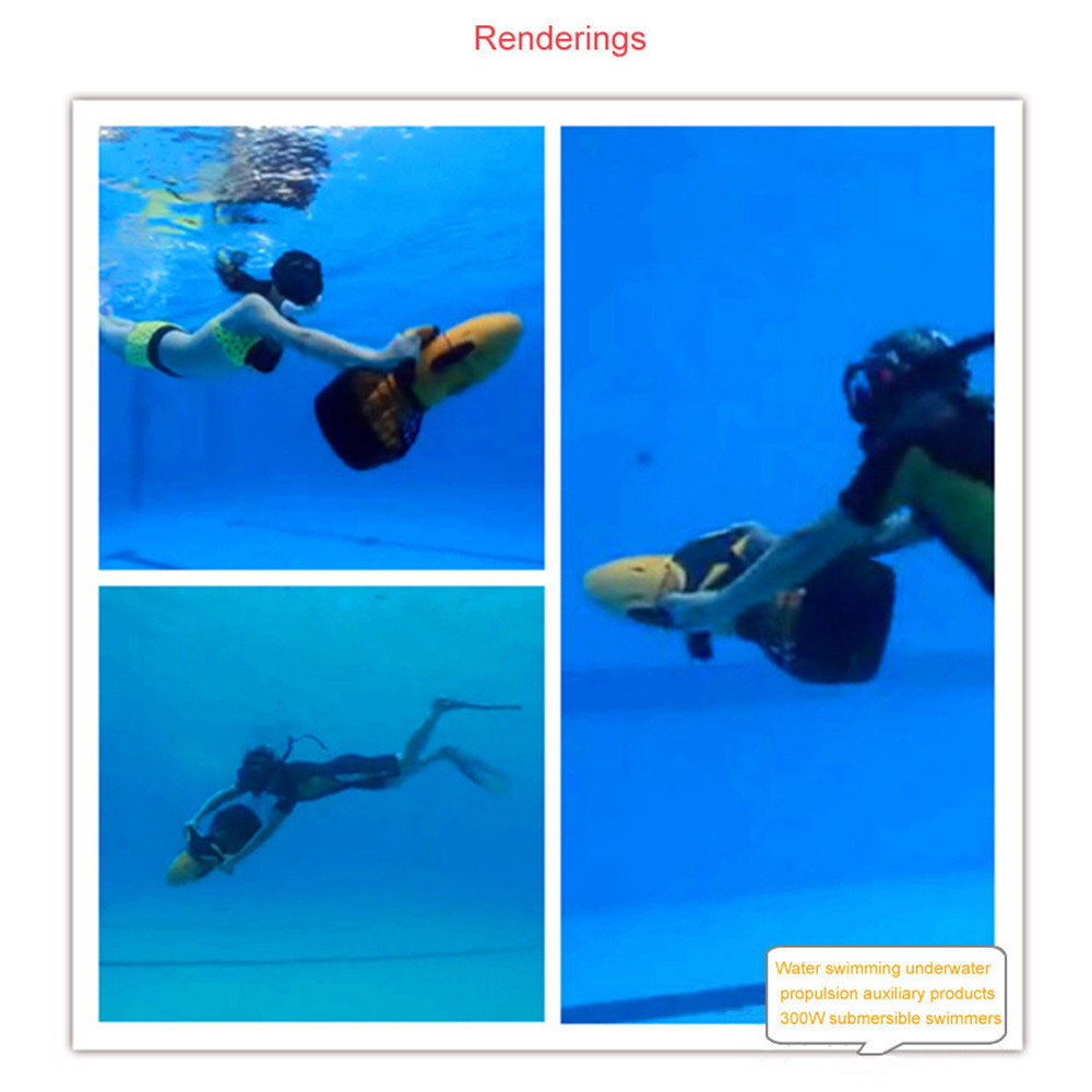 Waterproof 300W Electric Underwater Sea Scooter Dual Speed ​​Propeller Drving Pool Rc Submarine Toy - Photo: 10