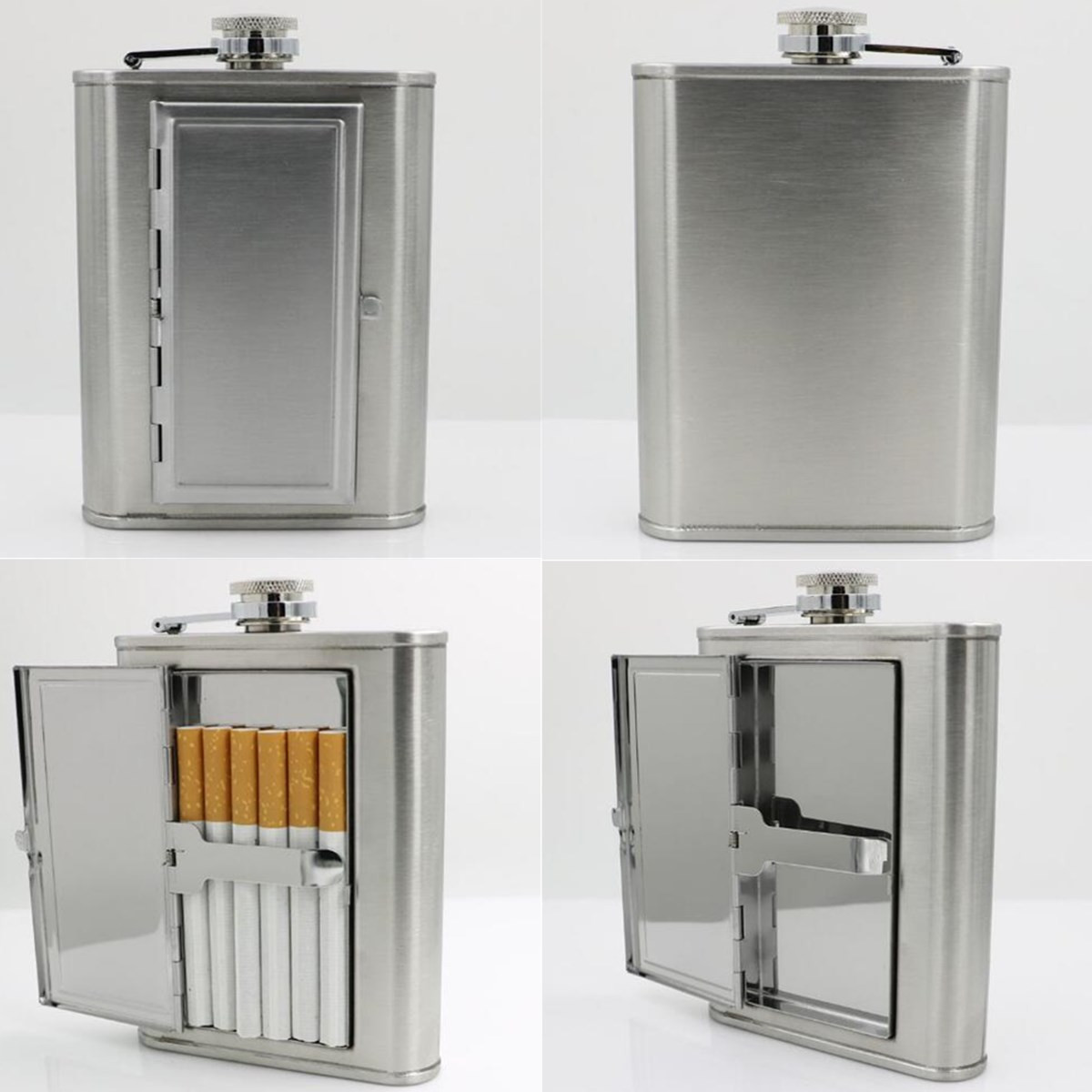 Outdoor Portable Mini 6oz Stainless Steel Wine Flagon Hip Flask Holder