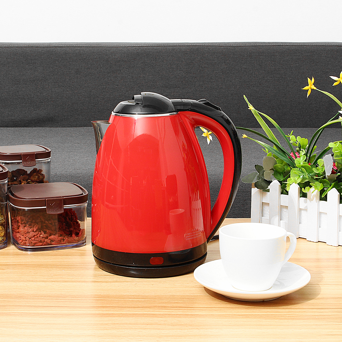 1500W 2L Stainless Steel Electric Kettle Automatic Power Off Hot Water Coffee Tea Pot