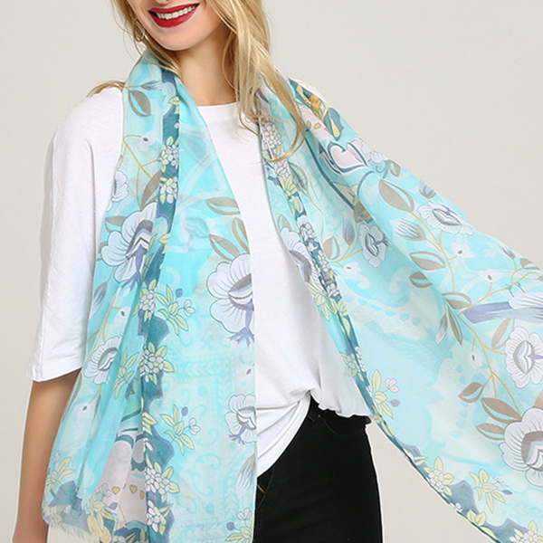 Women Vogue Cotton Graffiti Printting Scarf Plus Size Shawl