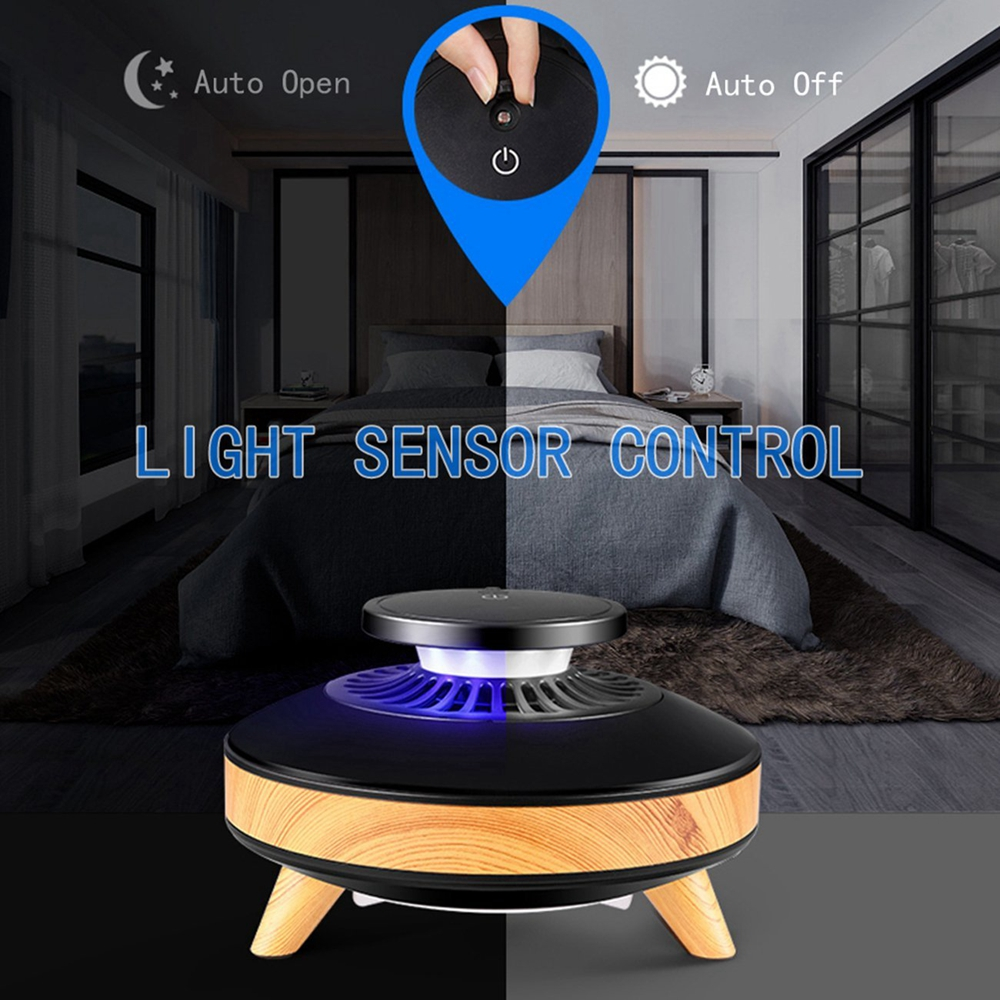 LUSTREON USB Electronic Insect Repellent Mosquito Killer Lamp Smart LED Light Sensor Bug Zapper