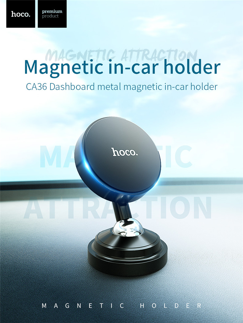 Hoco Powerful Magnetic 360 Degree Rotation Car Dashboard Holder Mount for Xiaomi Mobile Phone