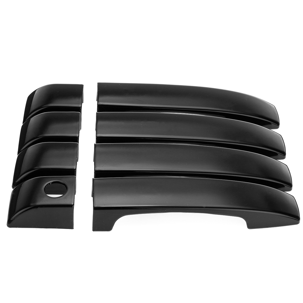 Gloss Black Car Door Handle Covers Trim For Land Rover Range Vogue L322 2002-2012
