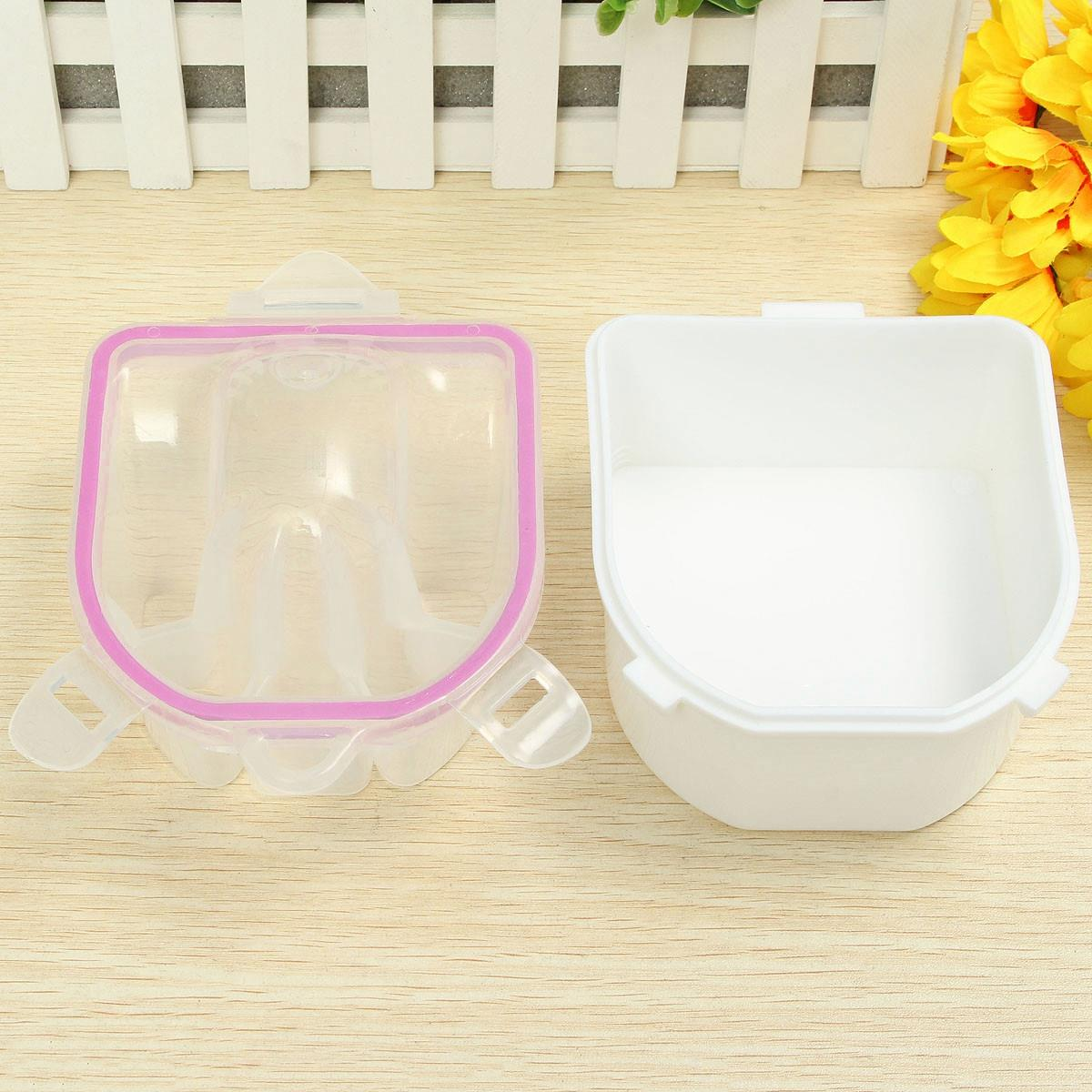 Plastic Manicure Soak Bowl Acrylic Nail Art Tip Remover Cleaner Tool