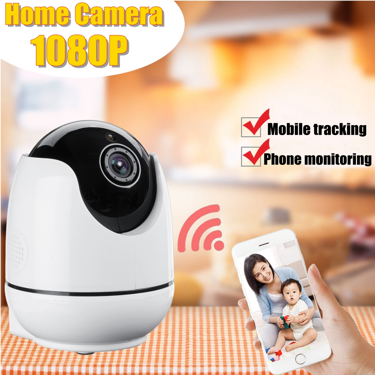 1080P 2.0MP Wifi Home Camera IP HD Security System Wireless Night Vision Indoor