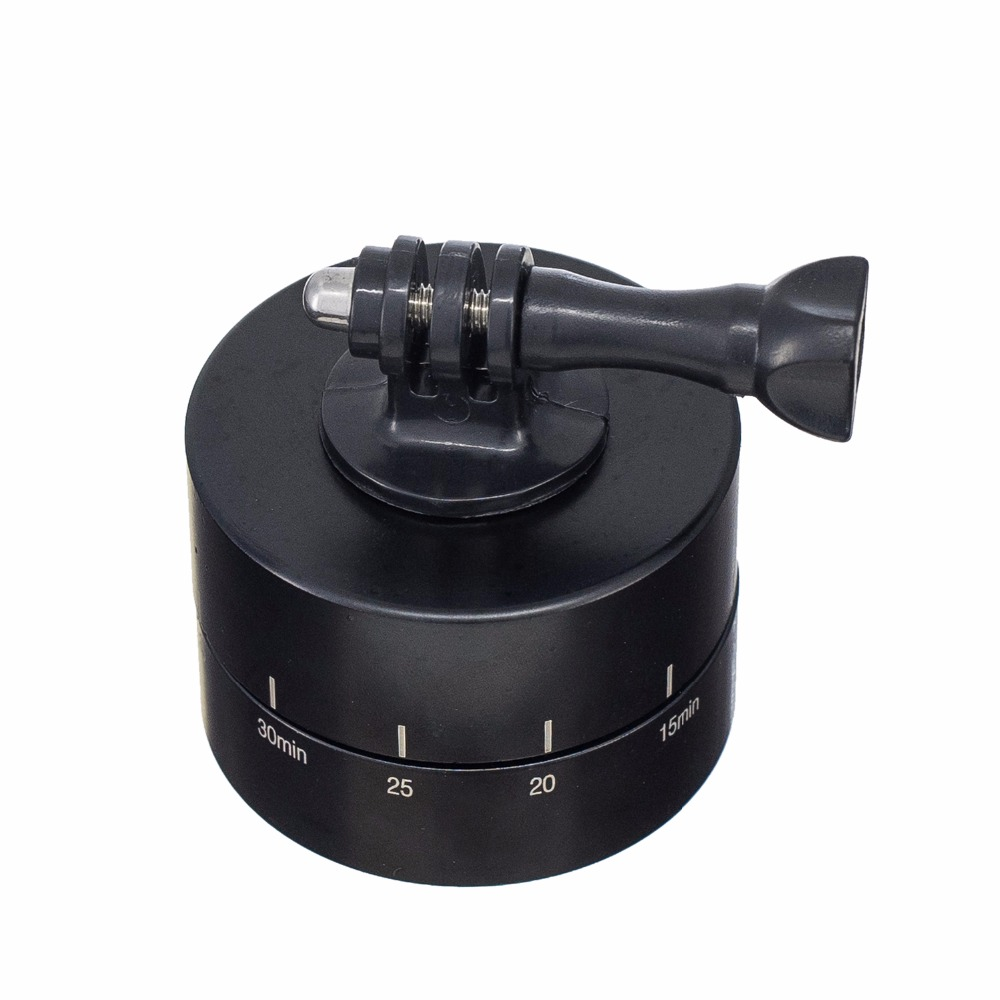 360° Rotating Automatic 60 Minute Time Lapse Timer Tripod Delay Automatic Tilt Head for Gopro - Photo: 5