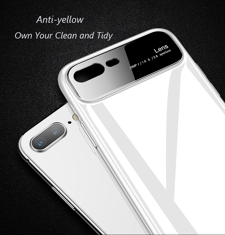 Bakeey Tempered Glass Lens Protection Hard PC Protective Case for iPhone 7/8/7Plus/8Plus/6/6s/6 Plus/6s Plus