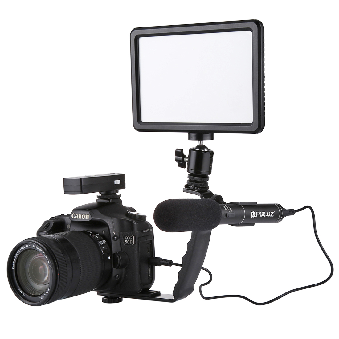 PULUZ PU3012 Professional Interview Condenser Video Microphone with 3.5mm Audio Cable for DSLR DV