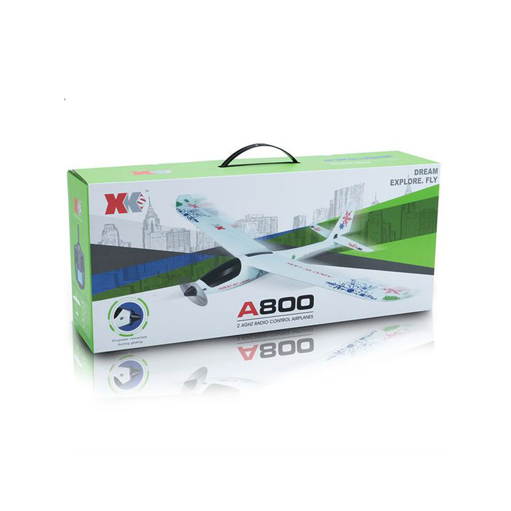 XK A800 4CH 780mm 3D6G System RC Glider Airplane Compatible Futaba RTF
