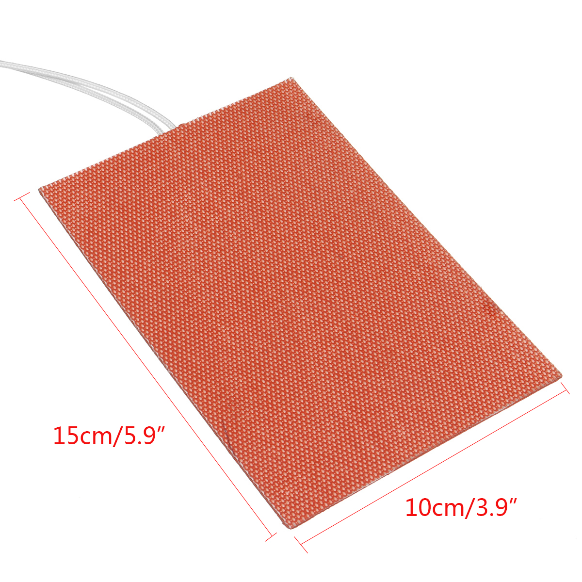 300W 240V 10*15cm Silicone Heated Bed Heating Pad w/ Adhesive Backing for 3D Printer Hot Bed
