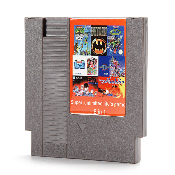 8 in 1 Super Unlimited Life Game 72 Pin 8 Bit Game Card Cartridge for NES Nintendo