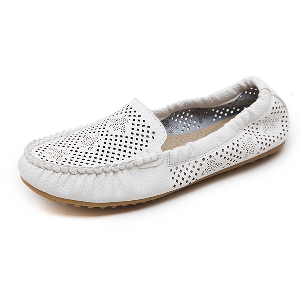 US Sise 5-10 Women Loafers Leather Outdoor Soft Sole Flat Casual Shoes