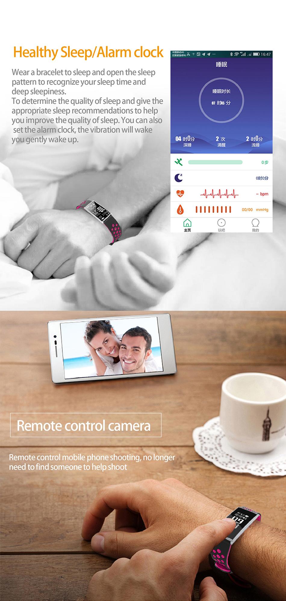 KALOAD R11 Sports Smart Bracelet Heart Rate Blood Pressure Monitor IP67 Waterproof Fitness Tracker