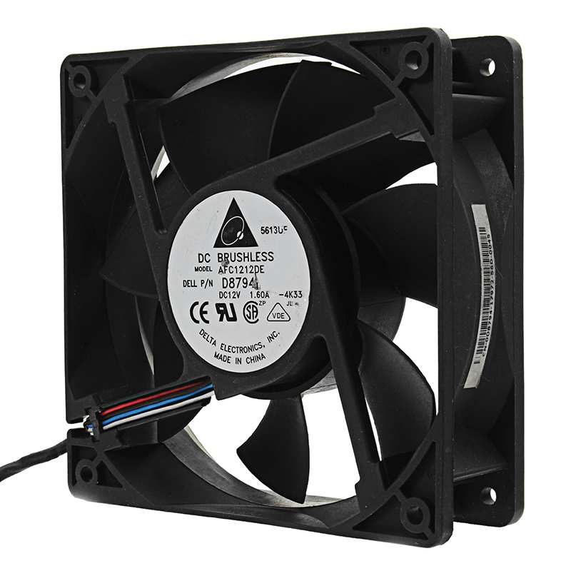 12V 4000RPM 120x120x37mm 4 Pin PWM Cooling Fan Support Temperature Control For Mining Cooler