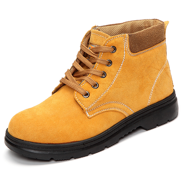US Size 6.5-11 Men Casual Boot Lace Up Outdoor High Top Breathable Non-Slip Flat Shoes