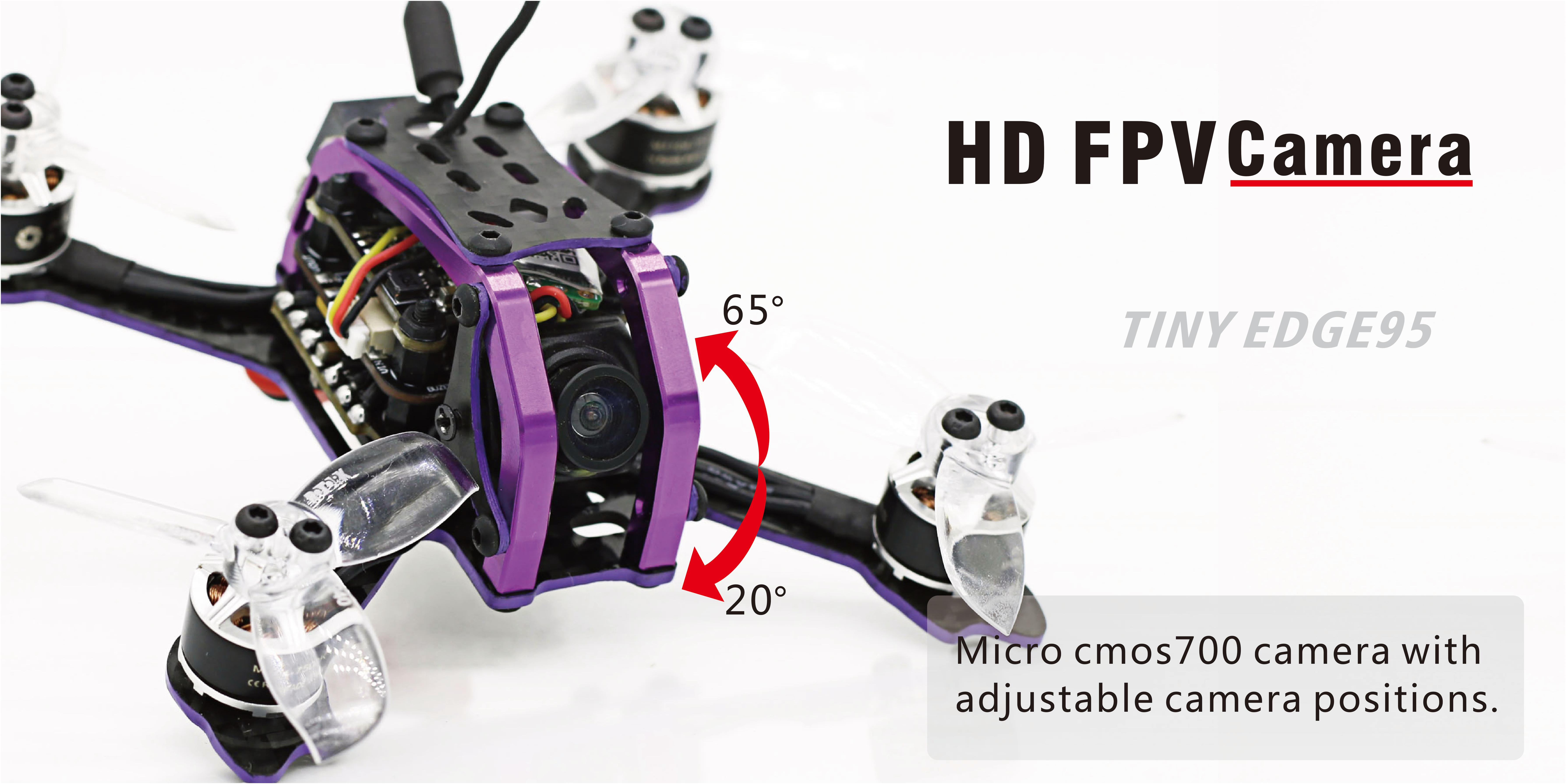 SKYSTARS Little Edge 95mm RC FPV Racing Drone PNP BNF W/ Micro F4 15A BLheli_S 800TVL 150mW 40CH VTX - Photo: 6