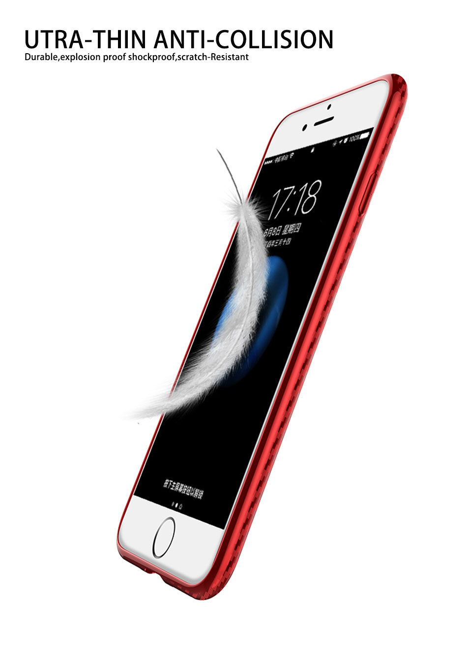 Bakeey Ring Bracket Heat Dissipation Soft TPU Protective Case for iPhone 7/8/7Plus/8Plus