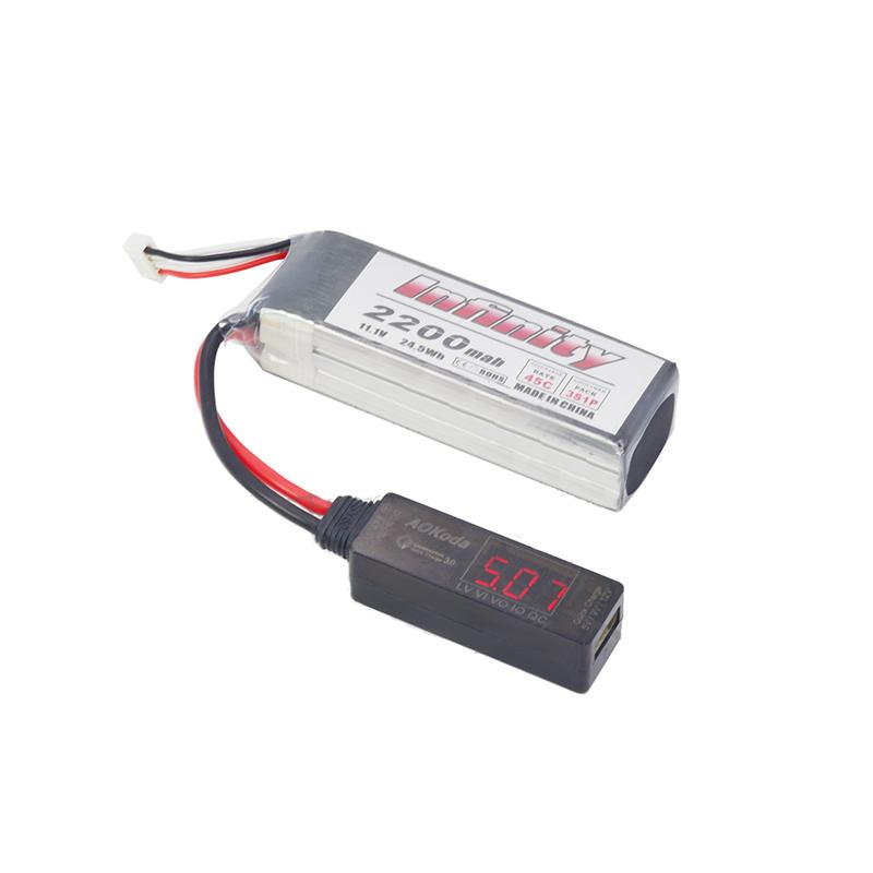 Lipo AOKoda a Convertidor USB Power Carga Rápida de Adaptador QC3.0 para Teléfono Inteligente Tableta PC